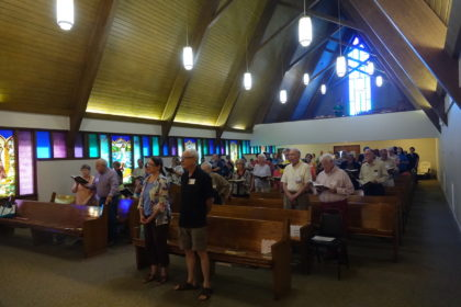 Broadmor sanctuary provides elbow room and vaulted ceiling in the sanctuary